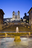 Sunrise and detail of the Spanish Steps Royalty Free Stock Photography