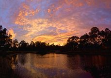 Sunrise in diamond creek Stock Photography
