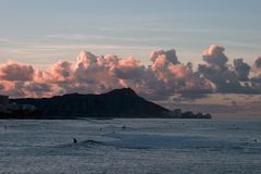Sunrise at Diamond Head royalty free stock photography