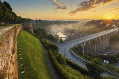 Sunrise in Dinan Royalty Free Stock Images
