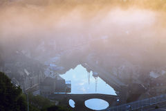 Sunrise in Dinan Stock Image