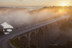 Sunrise in Dinan Royalty Free Stock Image