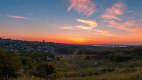 Sunrise in Dnepropetrovsk stock video