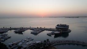 Sunrise Doha royalty free stock image