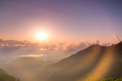 Sunrise at Doi Angkhang Stock Images