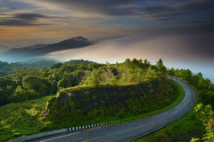 Sunrise at Doi Intanon National Park VIew point Stock Images