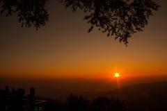 Sunrise on Doi Wao , Nanthaburi National Park,Nan province. Stock Images