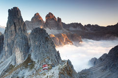 Sunrise in the Dolomites Stock Image