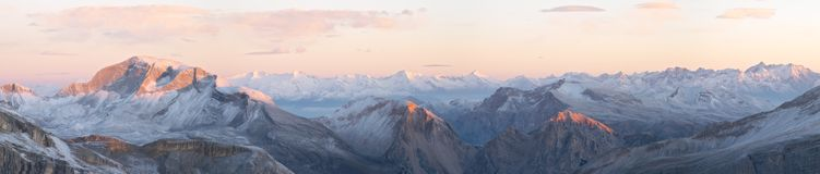 Sunrise in Dolomites Stock Photos