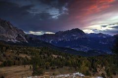 Sunrise in Dolomites Royalty Free Stock Image
