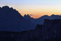 Sunrise in Dolomites Royalty Free Stock Photo