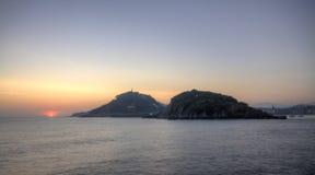 Sunrise on Donostia, Euskadi Stock Images