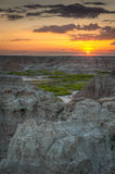 Sunrise on Door Trail in Badlands National Park Stock Photo