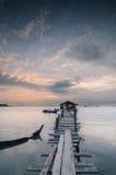 Sunrise at Dove Jetty Stock Photo