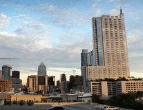 Sunrise in downtown Austin Stock Images