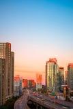 Sunrise at downtown Toronto Royalty Free Stock Photo