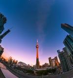 Sunrise at downtown Toronto Stock Image