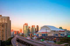 Sunrise at downtown Toronto Royalty Free Stock Images