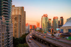 Sunrise at downtown Toronto Stock Photos