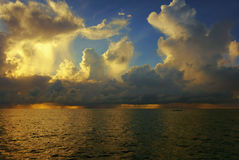 Sunrise. Dramatic Sky over the Pacific Ocean Stock Photography