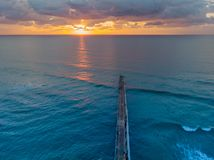 Sunrise from drone royalty free stock photos