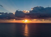 Sunrise from drone 1 stock photography