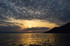 Sunrise-Dubrovnik riviera-Croatia stock image