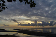 Sunrise at the Dumaguete beach Stock Photography