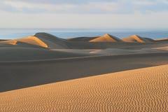 Sunrise in dunes of Maspalomas Stock Photography