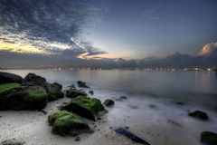 Sunrise at East Coast Beach 2 Stock Photography
