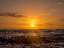 Sunrise on eastern shore of Kauai Royalty Free Stock Photos