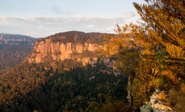 Sunrise from Echo Point in Blue Mountains Australia Royalty Free Stock Image