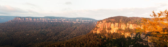 Sunrise from Echo Point in Blue Mountains Australia Stock Image