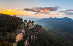 Sunrise from Echo Point in Blue Mountains Australia Stock Photos