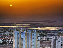 Sunrise in Eilat in the mist Royalty Free Stock Photo