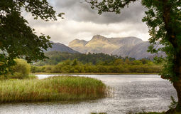 Sunrise at Elterwater in Lake District Royalty Free Stock Photography