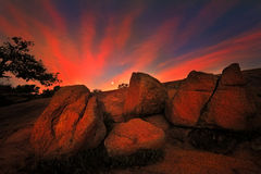 Sunrise at Enchanted Rock State Park, TX Stock Photography