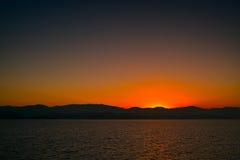 Sunrise at erhai lake Stock Photos
