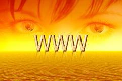 Sunrise. Eyes of internet stock images