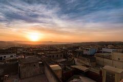Sunrise in Fès in Morocco Stock Image