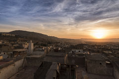 Sunrise in Fès in Morocco Royalty Free Stock Photo