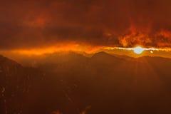 Sunrise in Fagaras Mountains Royalty Free Stock Image