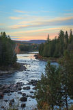 Sunrise at fall in Canada Stock Photography