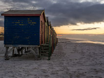 Sunrise on False Bay beach in South Africa  Royalty Free Stock Photography