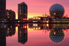 Sunrise, False Creek, Vancouver Stock Photo