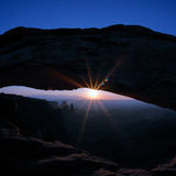 Sunrise at famous Mesa Arch Stock Images