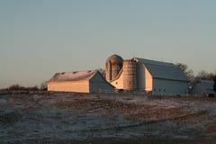 Sunrise on the farm. Stock Photos