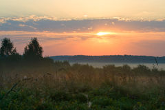 Sunrise on field Royalty Free Stock Images