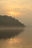 The sunrise in fish shoal grooves, sichuan,china Royalty Free Stock Image