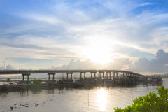 Sunrise at Fisherman Village Royalty Free Stock Photography